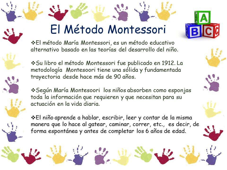 El método MONTESSORI. Lo conoces… | Metodo montessori, Montessori, Metodos educativos