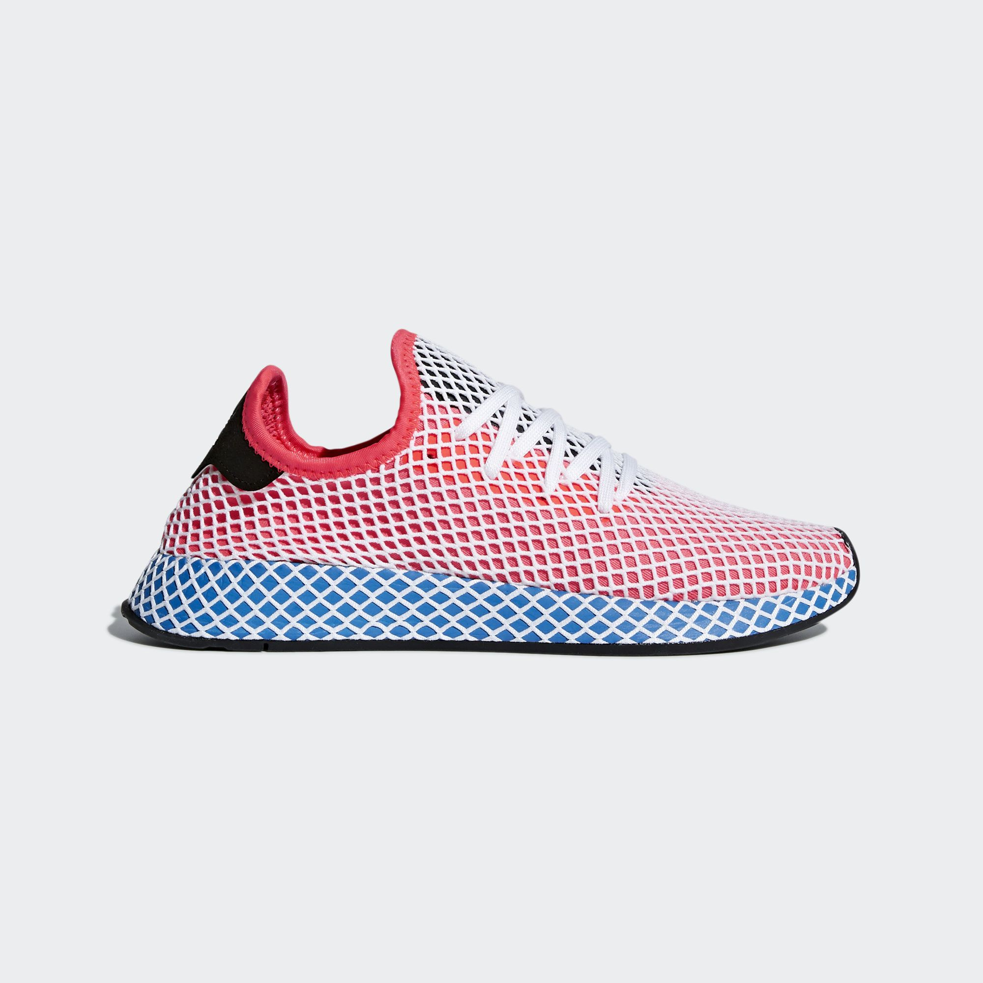 best service 01a21 a539f Deerupt is proof that minimalism can be bold. These shoes have an  ultra-flexible mesh upper covered in a layer of stretch grid webbing.