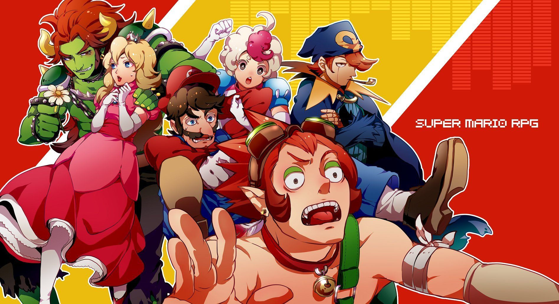 If your favorite franchises were turned into anime super mario rpg