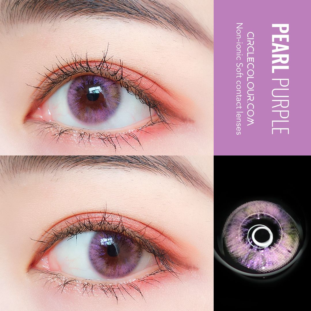 Contact Lenses Pearl Purple Non Ionic Soft Contact Lens Bc 8 6 Dia 14 0mm Water Contact Lenses Colored Coloured Contact Lenses Colored Contacts