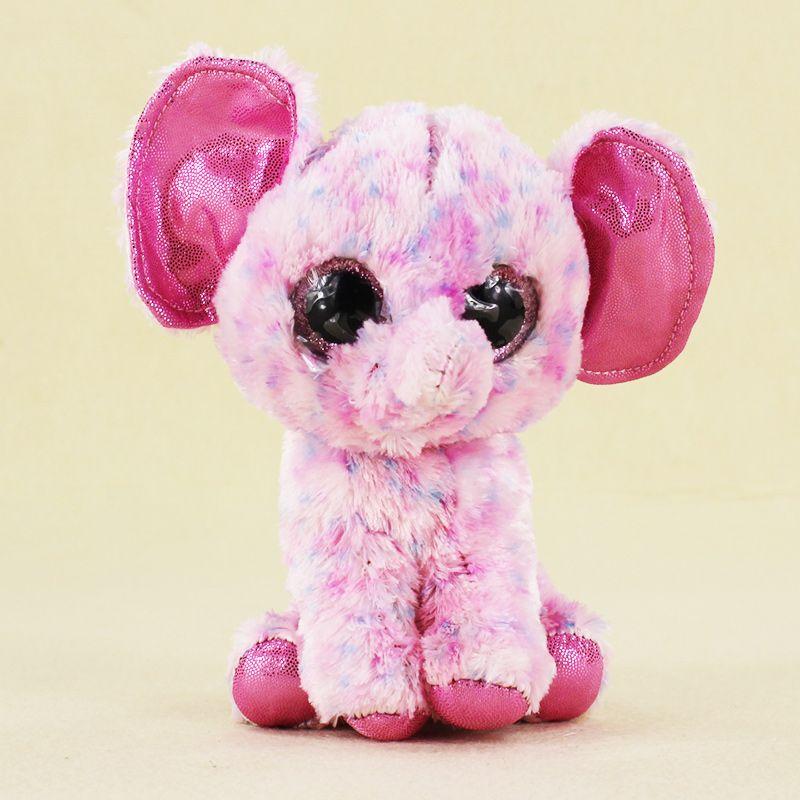 15cm Ty Beanie Boos Big Eyes Plush Toy Doll Child Birthday Pink Ellie  Elephant Baby 64fe21f18a9e