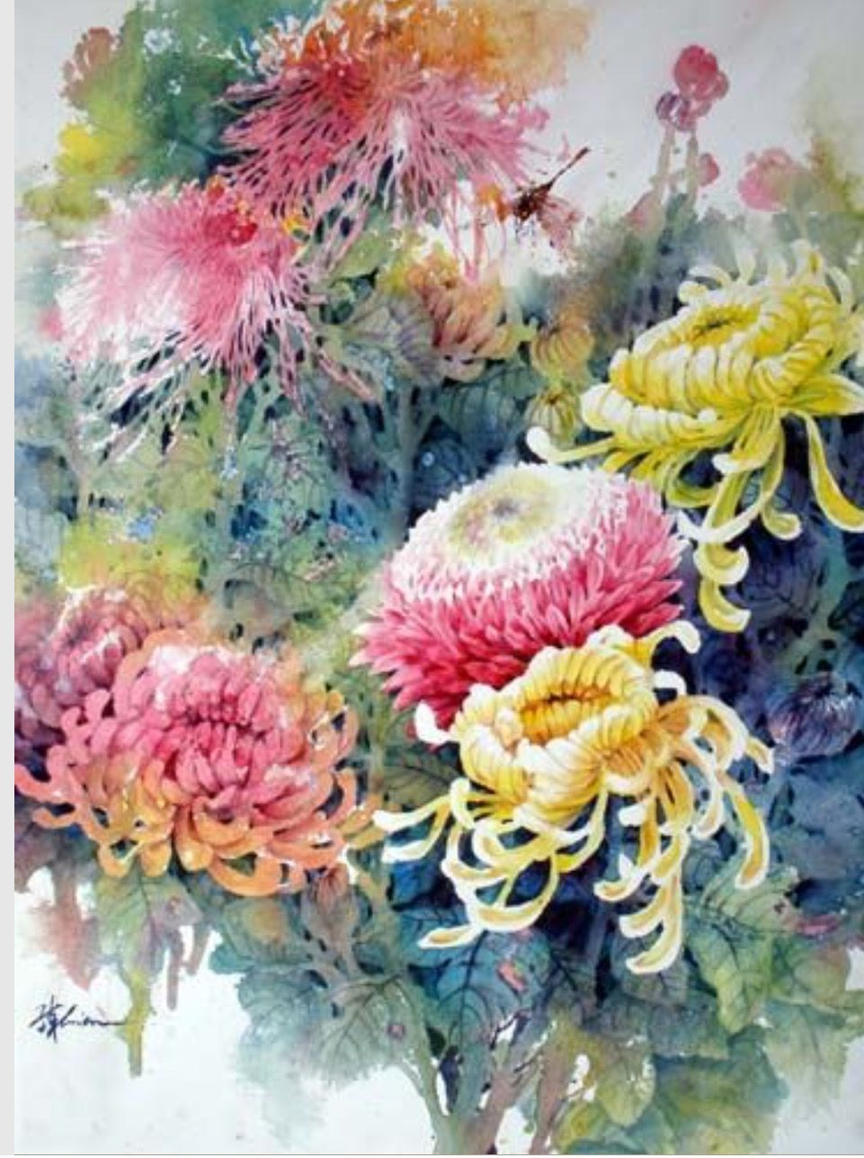 Pin By Liz Butcher On Watercolours Others Flower Painting