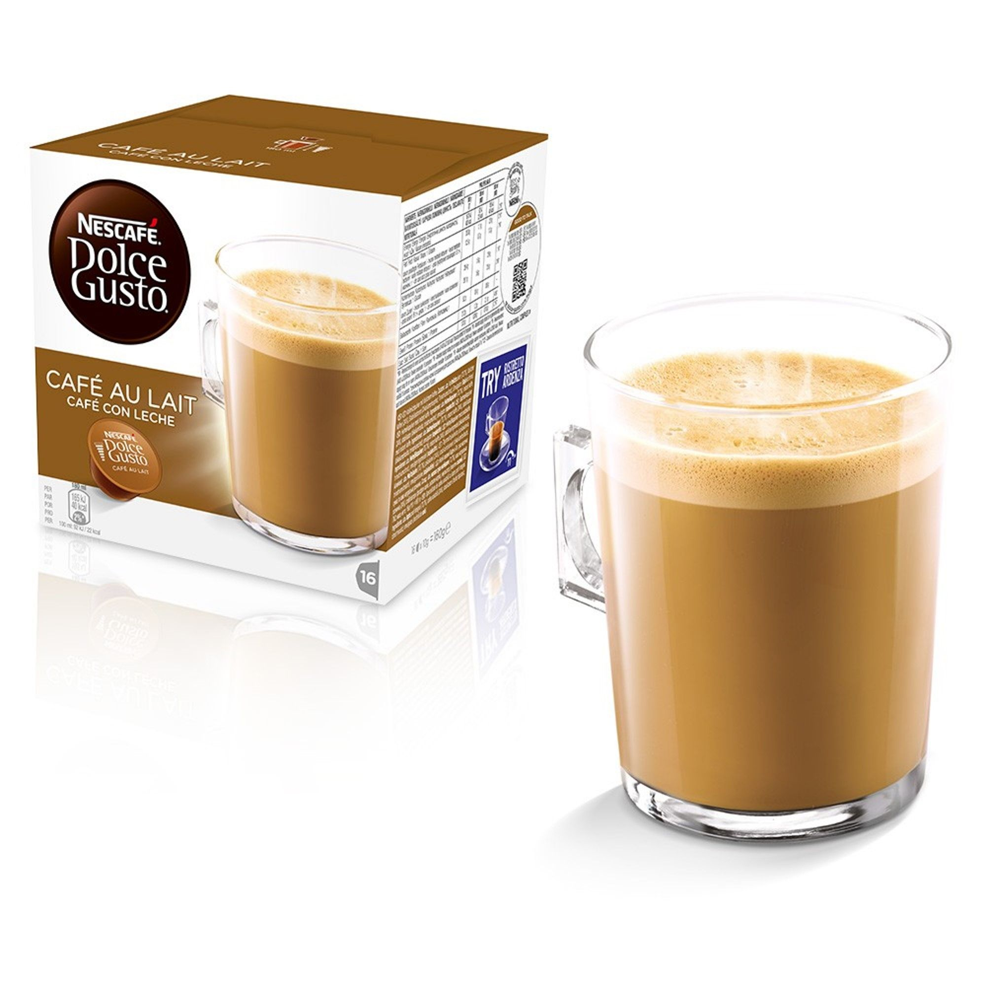 Cafe au lait kitchen decor - Nescafe Dolce Gusto Cafe Au Lait Coffee Pods