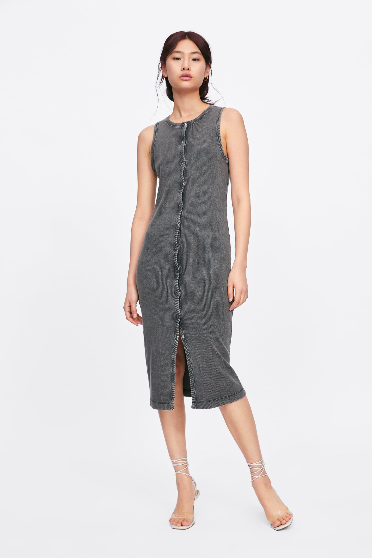 kleid aus rippenstrick mit knÖpfen - alles anzeigen-kleider