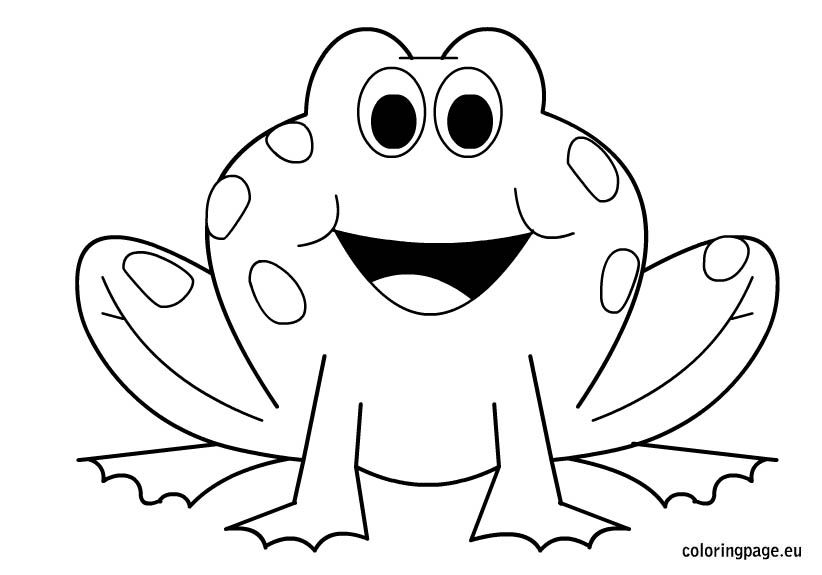 Frog Coloring Page Or Art Pattern Nuttin But Preschool