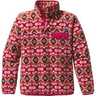 Pattern Fleece Pullover Synchilla Lightweight Snap T
