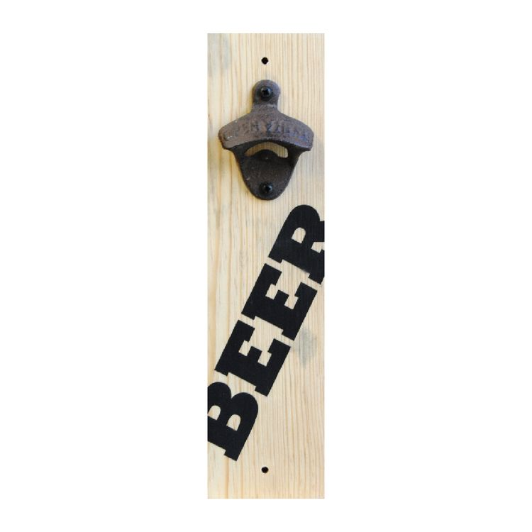Not only is this wall mounted bottle opener functional but it is also a piece of art. Every bottle opener is constructed from sustainable eco friendly wood. All text, graphics and board edges are painted then coated with a water based satin polycrylic finish. $25 plus shipping