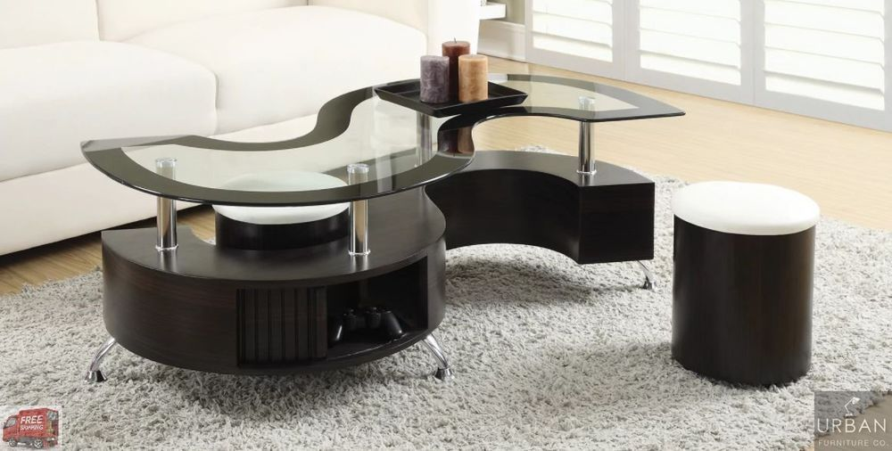 Baxton Studio Prescott 5 Piece Modern Table Stool Set Coffee Table Design Modern Coffee Table With Seating Coffee Table With Stools
