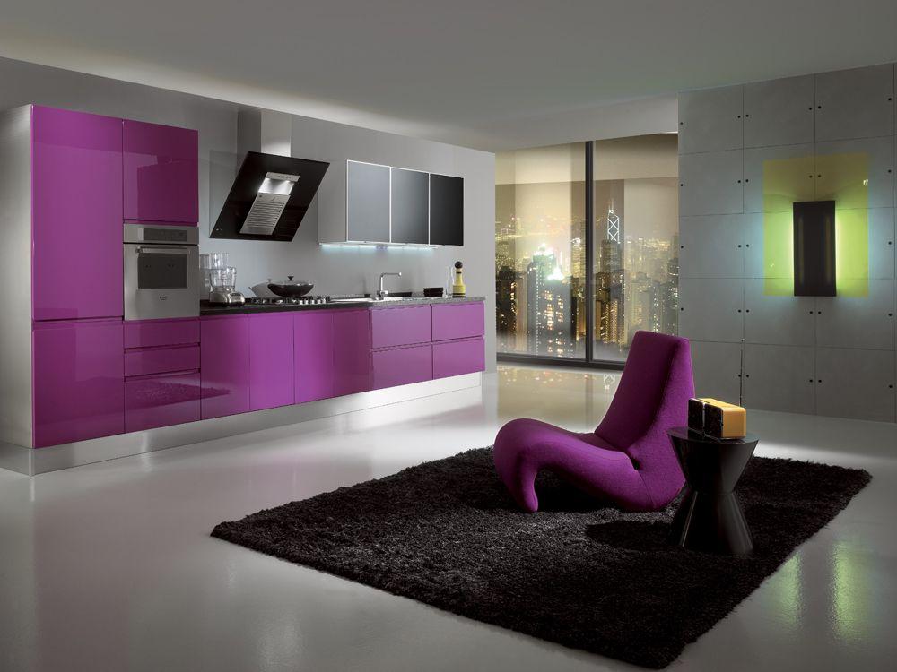 Cucina Moderna Fuxia.Cucina Alice Arredamento Fuxia Colore Colore In