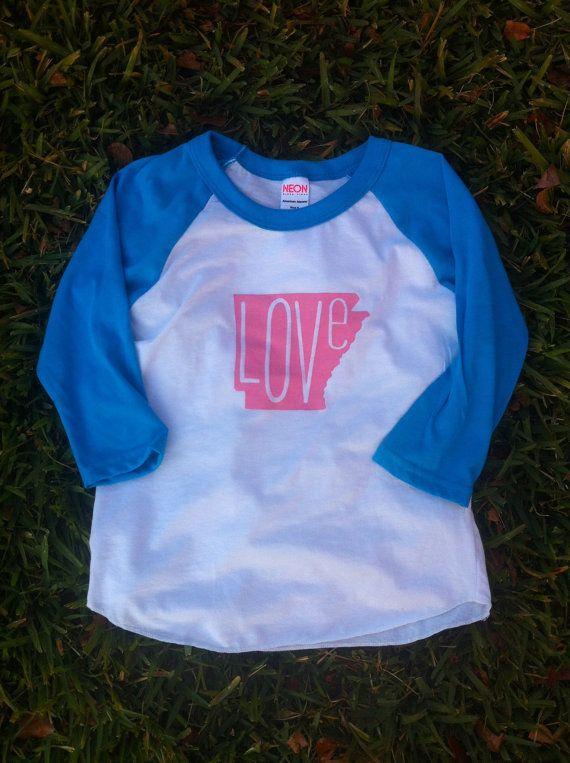 Custom LOVE raglan tee  baby toddler kids by MilkandHoneyTees