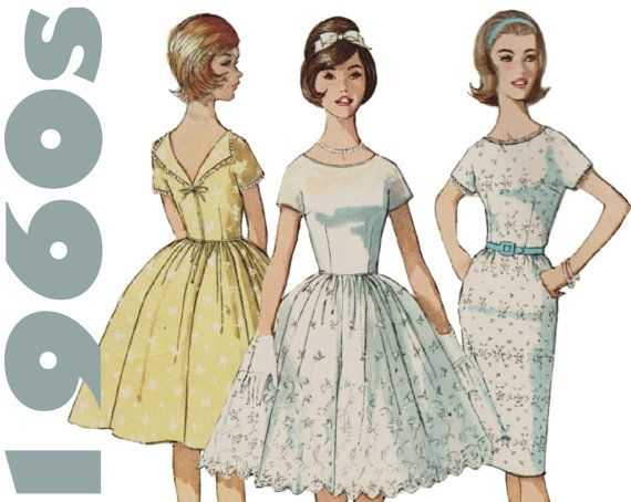 1960s Party Dress Dirndl Dress Full Skirt by ThePerfectPattern