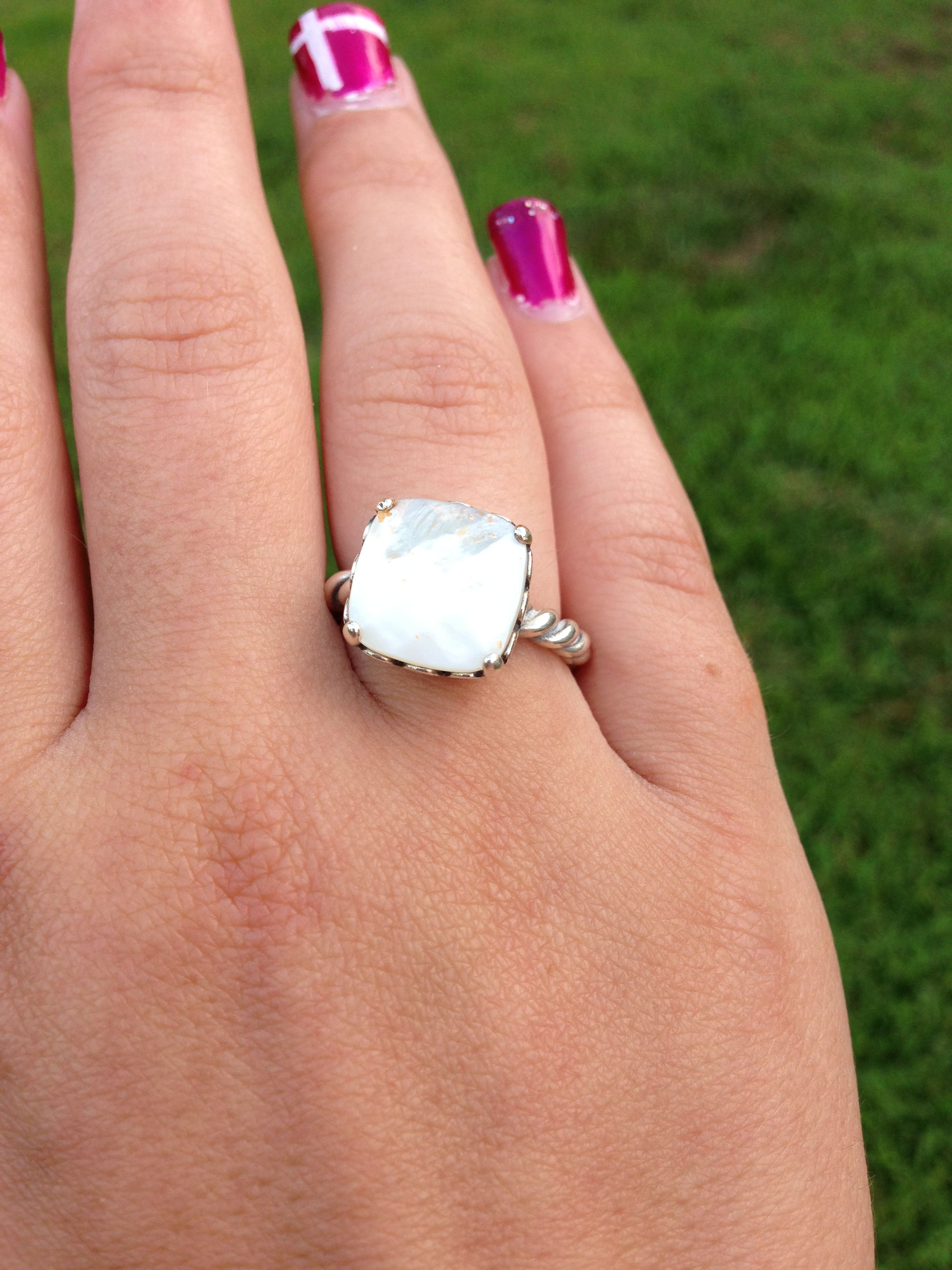 2395be1e8c9c8 Pretty mother of pearl pandora ring | Style | Rings, Silver rings ...