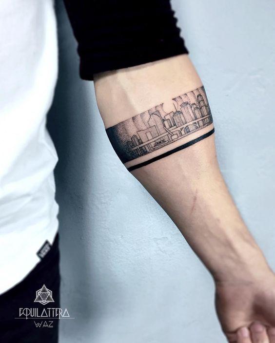 Tatuajes De Brazaletes Para Hombres Tatuaje De Brazalete Tatuajes Tinta Para Tatuaje