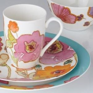 Floral Fusion by Lenox is now available at dinnerware4less.  4-PC set now $33.75.