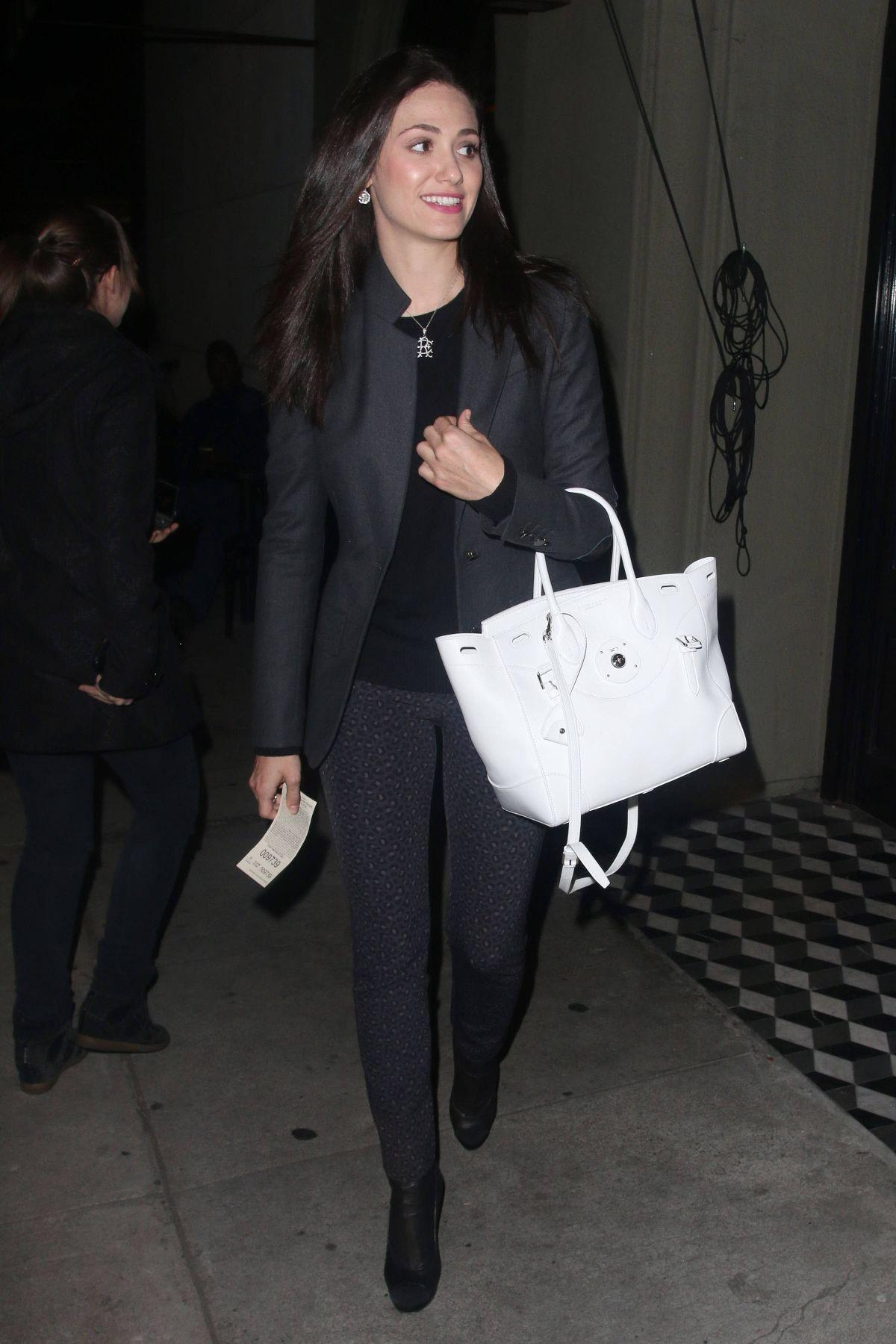 a2cade9394 Emmy Rossum wearing Ralph Lauren Ricky bag in White
