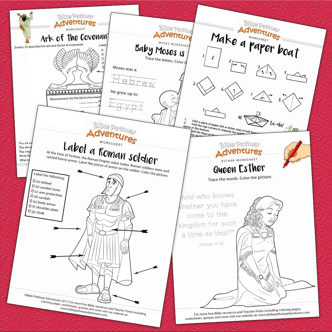 Bible Worksheets For Kids Free Biblical Resources For
