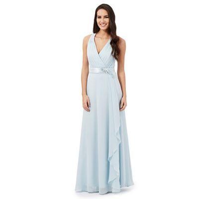 6dbe498a5 No. 1 Jenny Packham Pale blue  Lily  waterfall evening dress ...