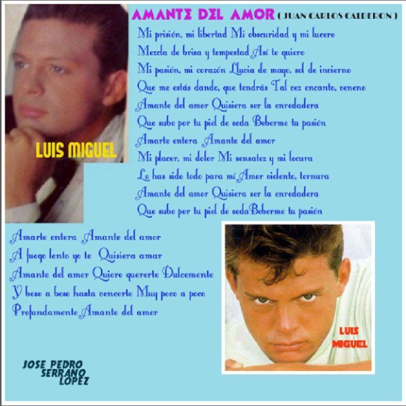 De Juan Carlos Calderon Amante Del Amor En La Interpretacion De Luis Miguel Amor Tempestad Luis