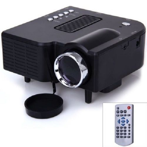 Portable Mini LCD Projector 400 Lumens Smartphone Compatible AV Input 1080P #UnbrandedGeneric