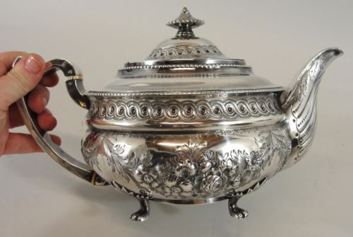 Early 19thC Antique 1814 London English Georgian Sterling Silver Teapot https://t.co/zc51mngMkq https://t.co/8kGmGZA5rI