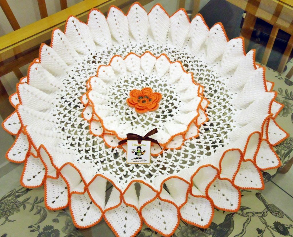 Centro de Mesa 3D Tejido a Crochet con Patrones | tapetes ...