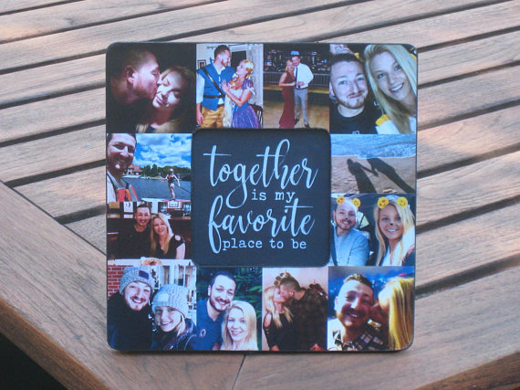 Valentine S Day Frame Photo Collage Picture Frame Unique Etsy Cute Boyfriend Gifts Unique Engagement Gifts Boyfriend Anniversary Gifts