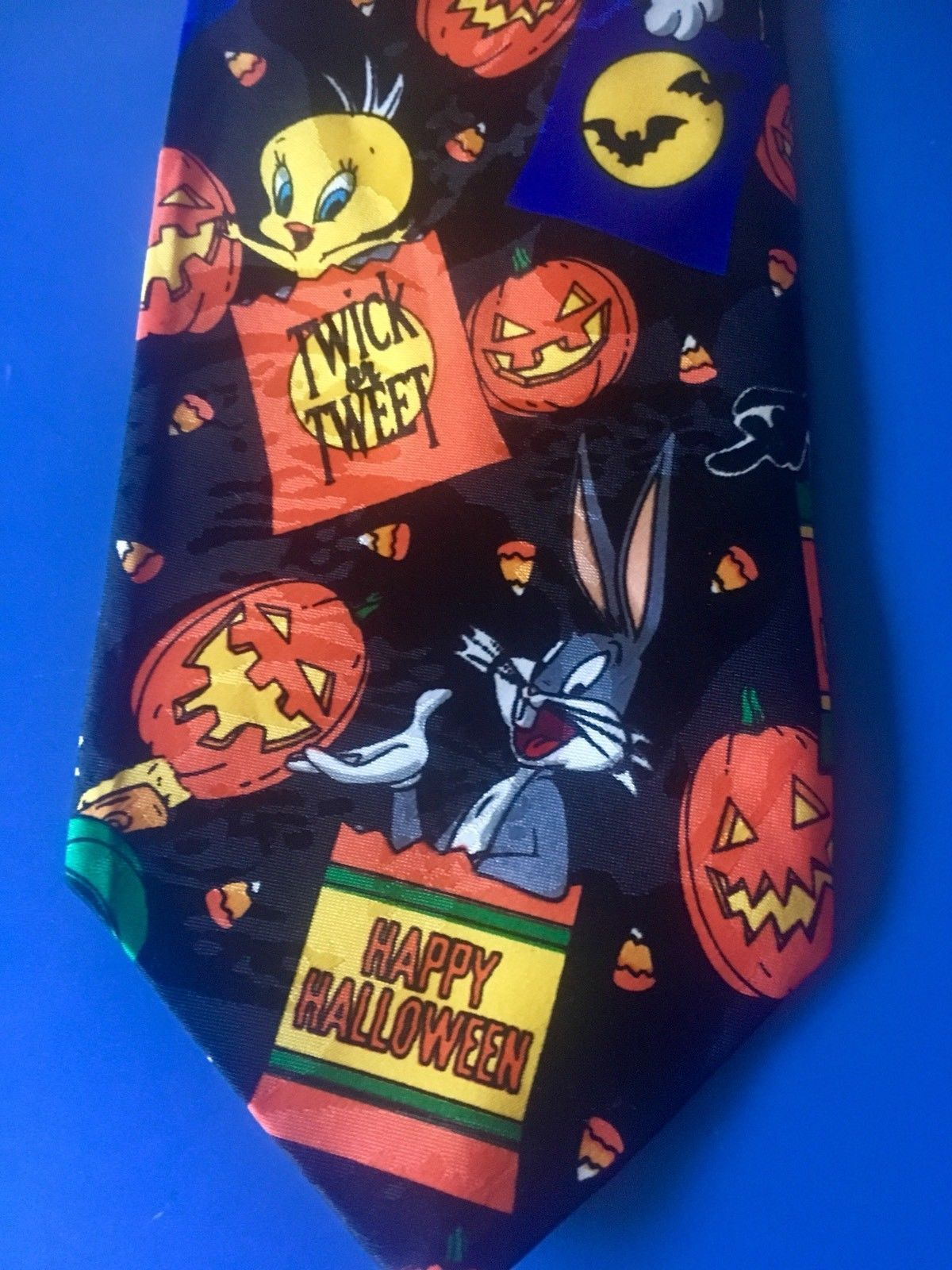Halloween Tweety Bca Flazz Edition Bugs Daffy Awesome Looney Tunes Novelty Tie Taz Marvin Twick 1200x1600