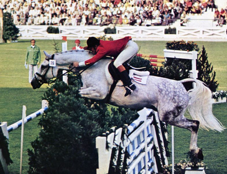 Hugo Simon on Lavendel at the Olympics in Munich 1972