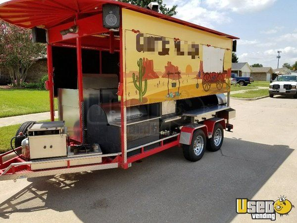 2010 - 8' x 18' HUGE Pull Behind BBQ Smoker Trailer for Sale