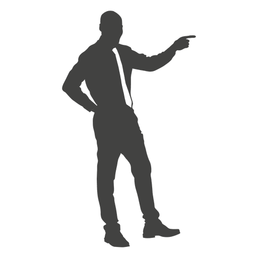 Young Businessman Pointing Finger Ad Affiliate Affiliate Businessman Pointing Finger Young Business Man Pointing Fingers Human Silhouette
