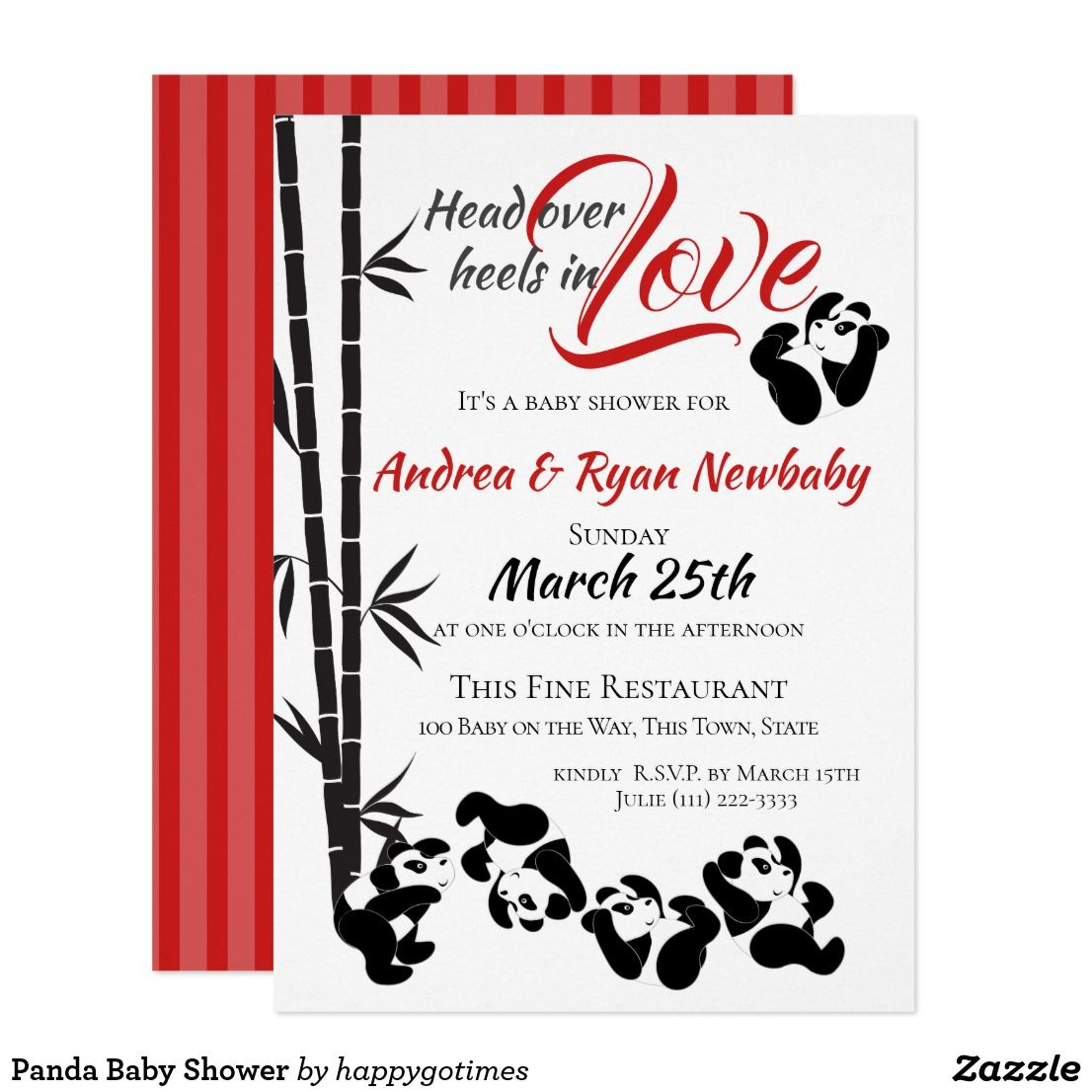 Panda Baby Shower Invitation   Panda baby showers and Panda babies