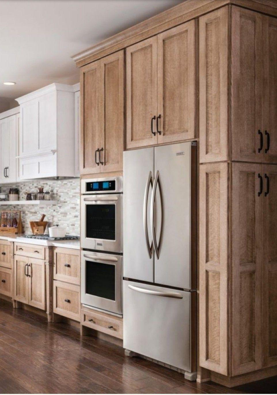 Cabinets Around The Fridge Dream Kitchen Cabinets Brown Kitchen Cabinets Kitchen Cabinet Design
