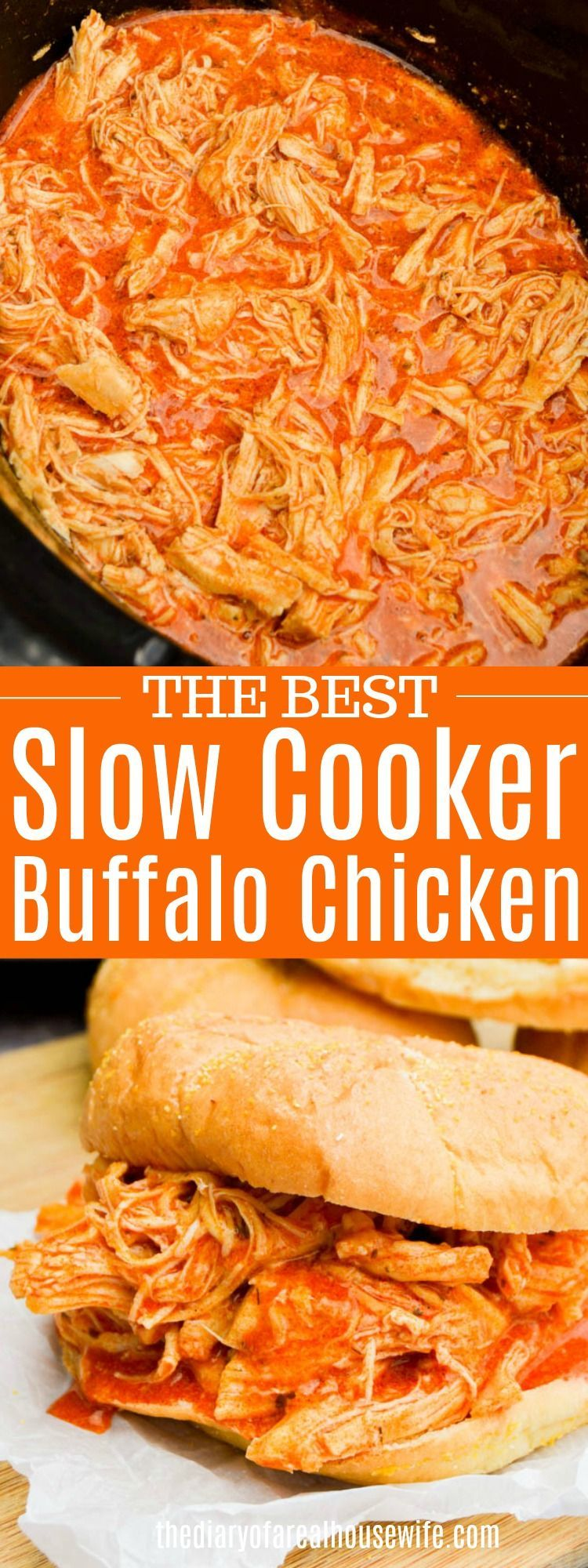 #ingredients #slowcooker #shredded #sandwich #chicken #buffalo #chicken #simple #cooker #three #hour...