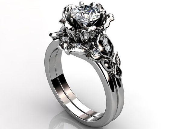 Hey, I found this really awesome Etsy listing at http://www.etsy.com/listing/118985331/platinum-diamond-unusual-unique-floral