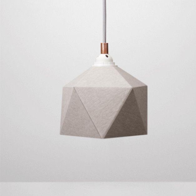 Die geometrische Lampe in Weiß