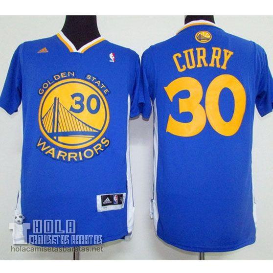Camisetas Nba Baratas 2015 Mangas Swingman Curry  30 Azul Golden State  Warriors €23.9 350e418fe0f