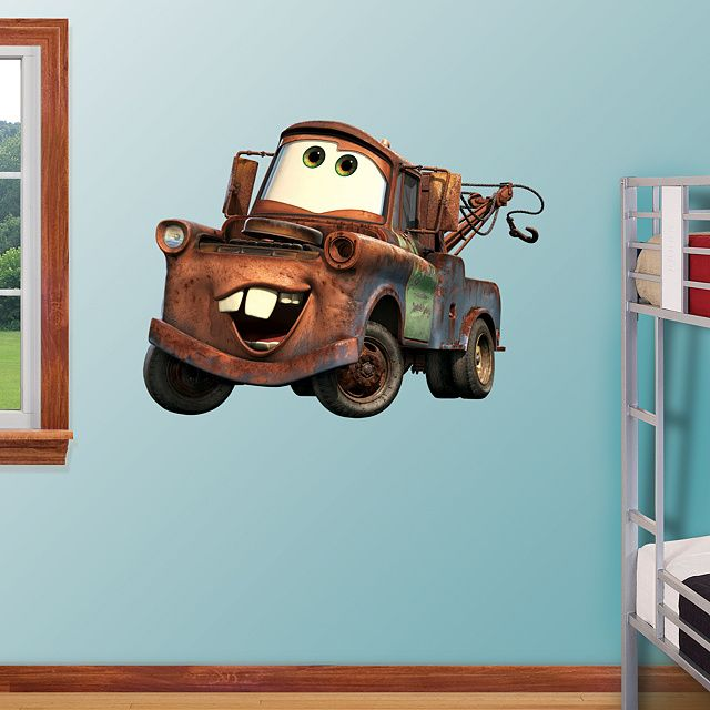 Mater REALBIG Fathead Peel Stick Wall Graphic Disney Cars - Disney cars wall decals kids rooms
