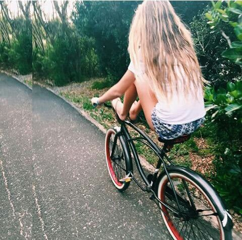 Image via We Heart It https://weheartit.com/entry/170884470/via/16620257 #bike #blonde #cool #girl #nature #photography #ride #summer