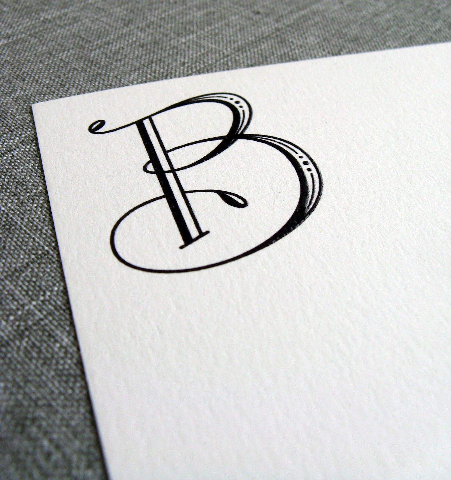 Tailored One Letter Monograms