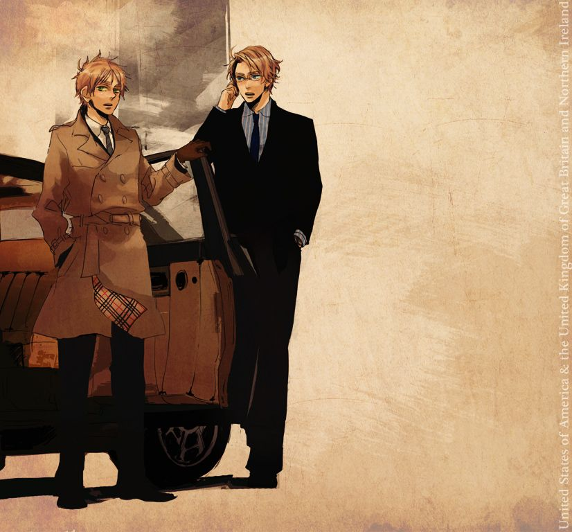Arthur and Alfred - Art by Harujuri
