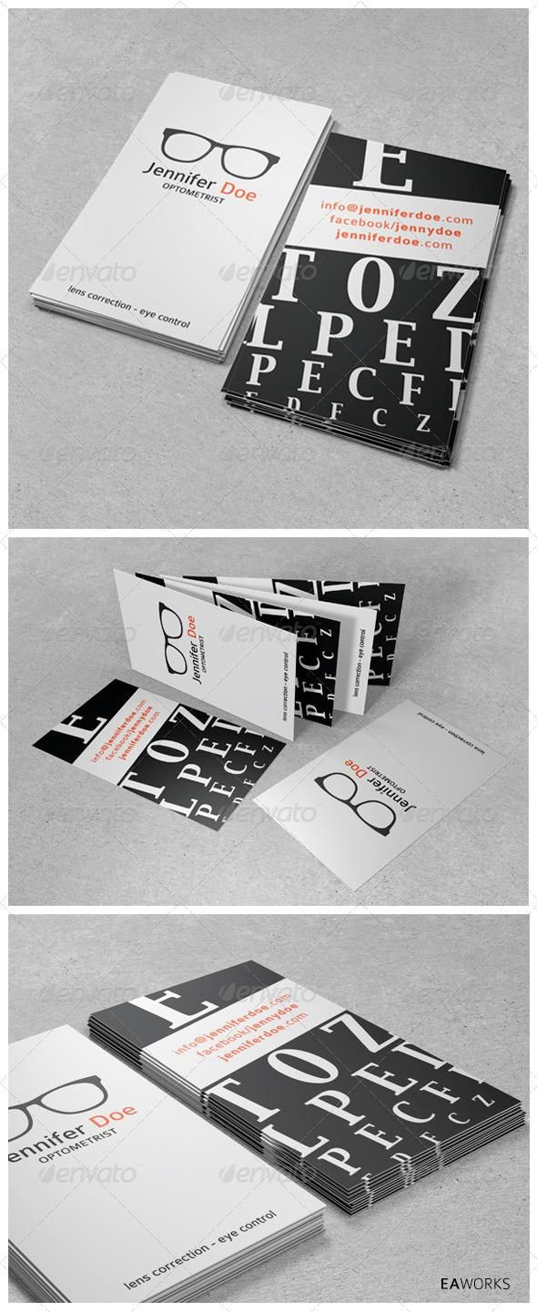 Optometrist Business Card Business Card Design Minimal Business Card Fonts Minimal Business Card