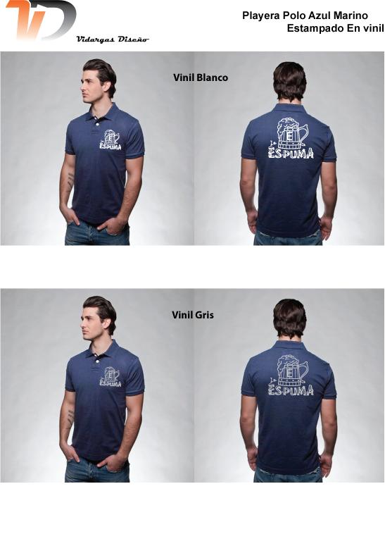 Diseño e Impresión de uniformes Cervecería La Espuma Playeras polo Técnica  de impresión Vinil Textil db81abd783ef5