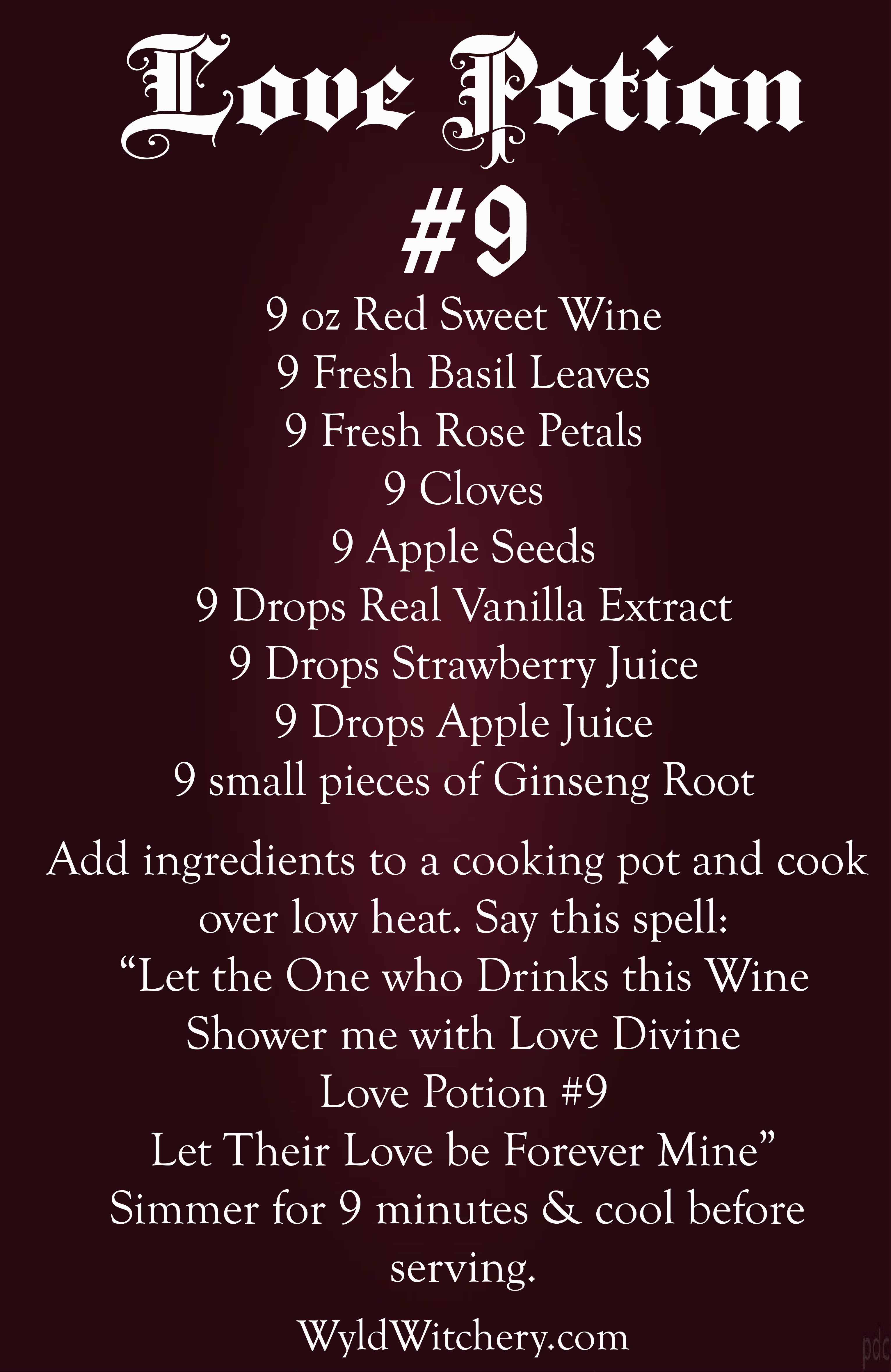 A Love Potion Spell – Recipe Included