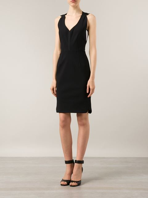 YIGAL AZROUEL sleeveless fitted dress