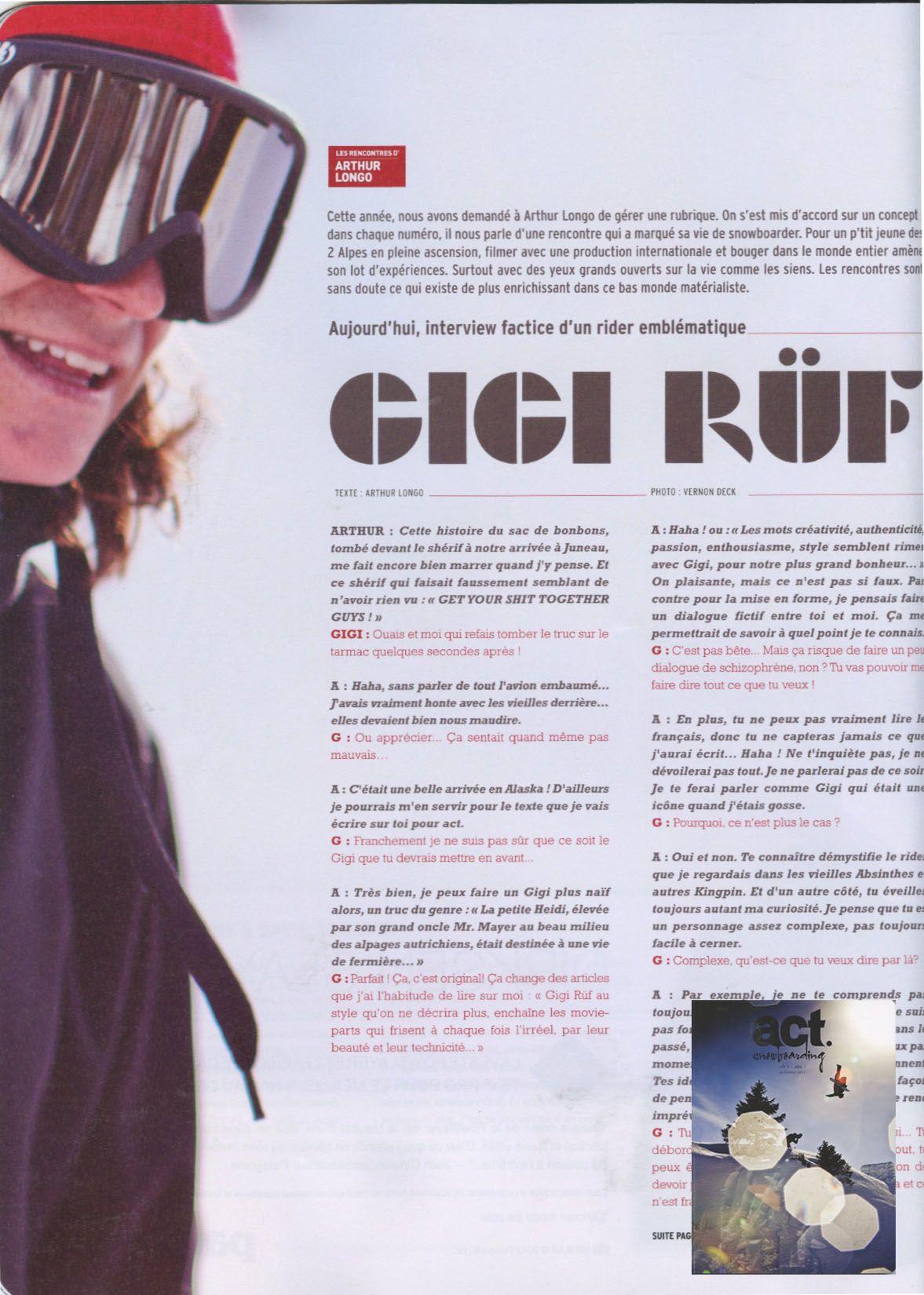Act - French Magazine - Arthur Longo - Snow Team - Sept12