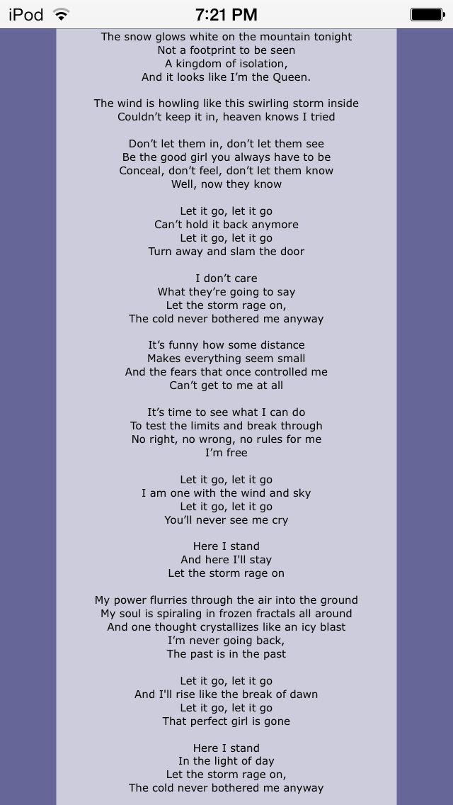 Lyric frozen let it go lyrics : I want a