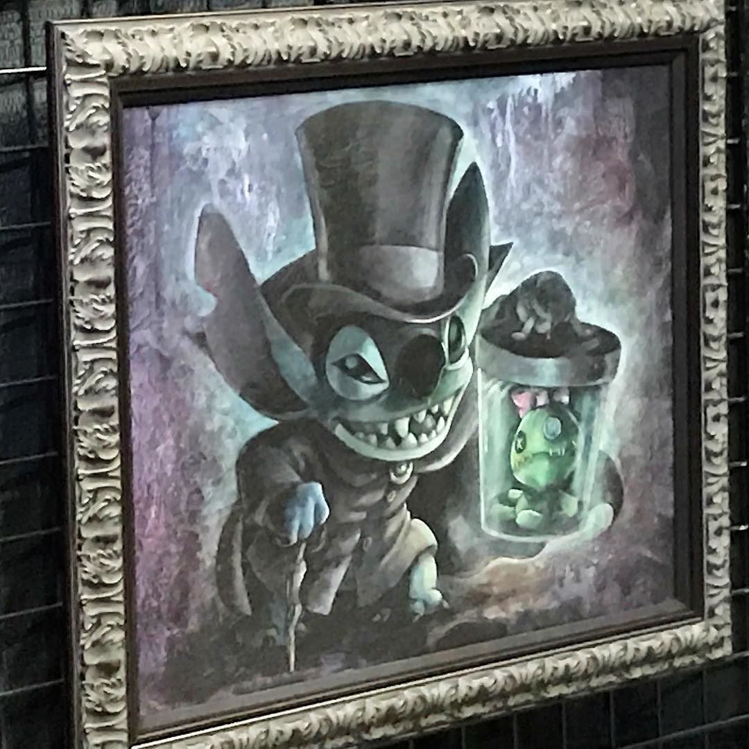 """8.5/"""" x 11/"""" Right Disney Haunted Mansion Dueling Ghosts Painting"""