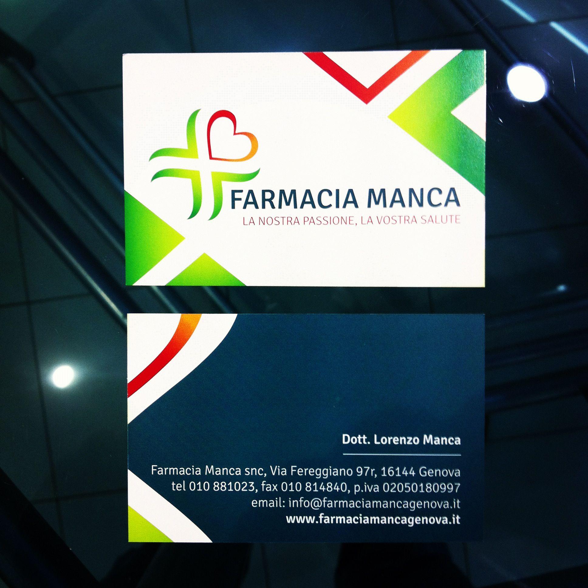 Farmacia Manca | graphic design by sbrenson