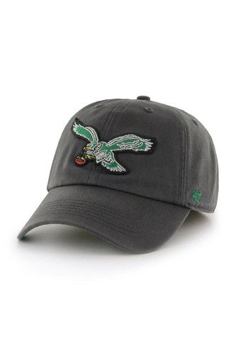 5843e3a3d4d Philadelphia Eagles Charcoal Cleanup hat with Vintage Logo