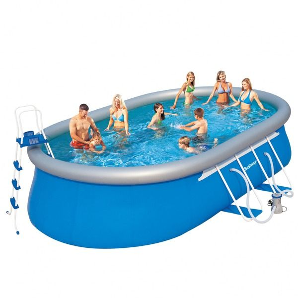Bassejn Karkasnyj Oval Fast Set Ovalnyj 610 366 122 Sm 4 Aksessuara Bestway 56119 Kupit Optom I V Roznicu Outdoor Decor Pool Pool Float